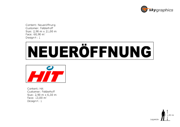Hit Flugzeugbanner, FELDERHOFF AVIATION, Bad Hombug
